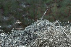 Swarf μετάλλων σπείρα Στοκ φωτογραφίες με δικαίωμα ελεύθερης χρήσης
