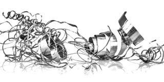 Swarf металла на белизне Стоковые Фотографии RF