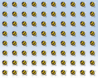 A swarm of angry bees cartoon illustration Stock Photos
