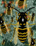 Swarm of bees illustration Royalty Free Stock Image