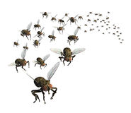 Swarm of Flies stock illustration