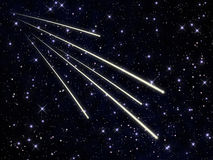 Swarm of meteors Stock Images