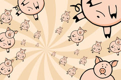 Swarm of Pigs Royalty Free Stock Photography