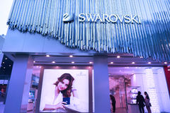 swarovski магазина стоковая фотография
