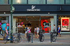 Swarovski Boutique on Kurfuerstendamm Stock Photo