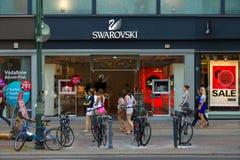 Swarovski Boutique on Kurfuerstendamm. BERLIN - JULY 24: Swarovski Boutique on Kurfuerstendamm. Swarovski is an Austrian producer of luxury cut lead glass ( Stock Photo