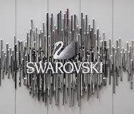 Swarovski brand on storefront Stock Photo