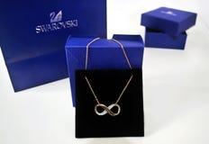 Swarovski bronze infinity necklace Royalty Free Stock Images