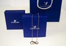 Swarovski bronze infinity necklace Royalty Free Stock Image