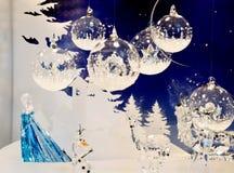 Swarovski Christmas creations royalty free stock photography