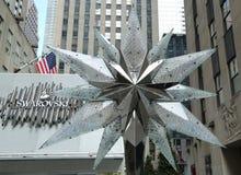 Swarovski Crystal Boutique with Swarovsky Crystal Star at Rockefeller Center in Manhattan Royalty Free Stock Photos