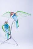 Swarovski Crystal Hummingbirds imagens de stock royalty free