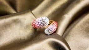 Swarovski crystal ring Royalty Free Stock Image