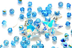 Swarovski Earrings And Beads Stock Images