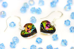 Swarovski  Earrings And Beads Stock Photography