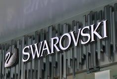 Swarovski fashion brand. Swarovski Austrian famous fashion brand stock images