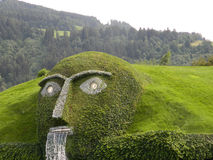 Swarovski groene mens van legende dichtbij Innsbruck, Oostenrijk stock afbeelding