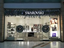 Swarovski store. Swarovski jewelery shop in AFI Palace Cotroceni, Romania Stock Photography