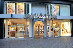 Swarovski jewelry store. Front view Stock Images