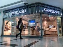 Swarovski retail shop stock photography