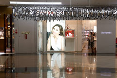 Swarovski shop. The famous crystal shop swarovski in amoy city, china stock images