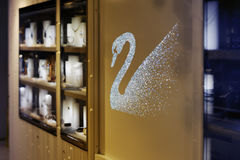 Swarovski shop and winter wonderland Royalty Free Stock Image