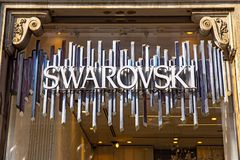 Swarovski sklepu znak Obrazy Stock