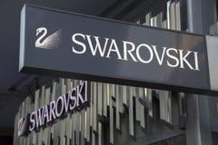 Swarovski sklepu znak Zdjęcie Royalty Free