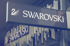 Swarovski sklepu znak 2 Zdjęcia Stock
