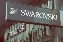 Swarovski sklepu znak 3 Obrazy Royalty Free