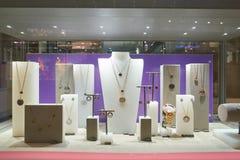 Swarovski store. DUSSELDORF, GERMANY - CIRCA SEPTEMBER, 2018: display window at Swarovski store in Dusseldorf stock photography