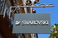 Swarovski Store and Sign Stock Photos