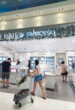 Swarovski tax free shop in Bangkok airport Suvarnabhumi Royalty Free Stock Image