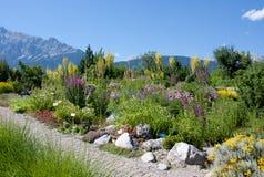 swarovsky高山的庭院 库存照片