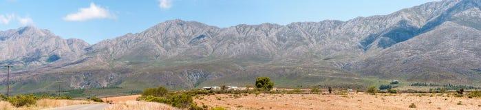 Swartberg (Black Mountain) Pass panorama Stock Image