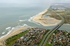 Swartkops从空气的河出海口 免版税库存图片