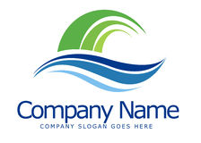 Логос Swashes Стоковые Изображения