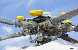 Swashplate. (helicopter), detail, against the blue sky Stock Image