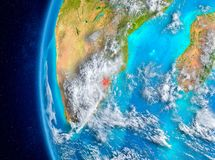Swasiland auf Erde vom Raum Lizenzfreie Stockfotografie