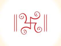 Swastik rouge artistique abstrait Photos stock