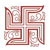 Swastik symbol in decoration Royalty Free Stock Photography