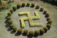 Swastika garden Royalty Free Stock Photos