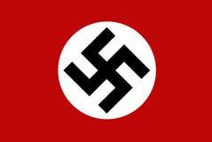 Swastika german nazi flag illustration Royalty Free Stock Images
