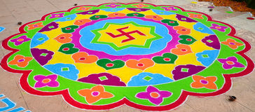 Swastika Rangoli Royalty Free Stock Photos