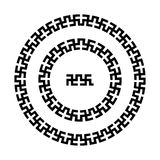 Swastika round pattern Stock Photos