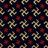 Swastika seamless pattern. Rotating cross Stock Photo