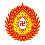 Swastika symbol - Buddhist tradition pattern Stock Photo