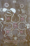 Swastika wall paintings. Royalty Free Stock Images