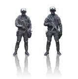 SWAT. Two swat team soldiers isolated on white background