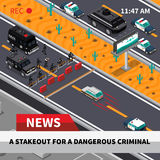 Swat Action Isometric Screenshot Composition Poster Royalty Free Stock Photos